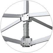Produkt Faltzelt 8x4 Meter Aluminiumformkupplungen und zentrale Feder