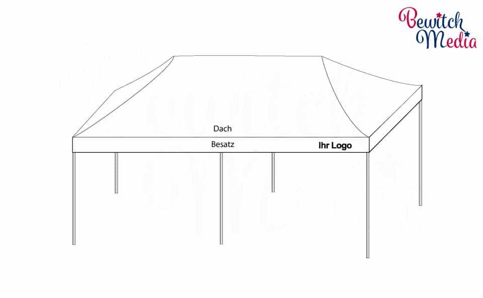 Produkt Faltzelt 8x4 Meter weiß