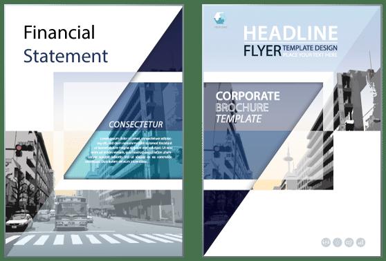 Corporate Design Content Bild - Prospekt im CD