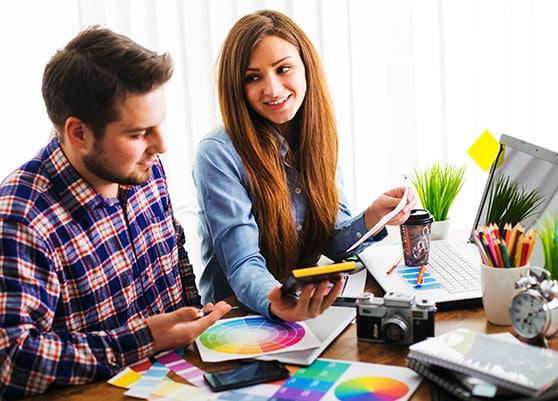 Corporate Design Content Bild - Team Grafik Design