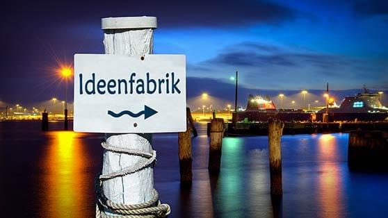 Corporate Identity Content Bild - Ideenfabrik Schild