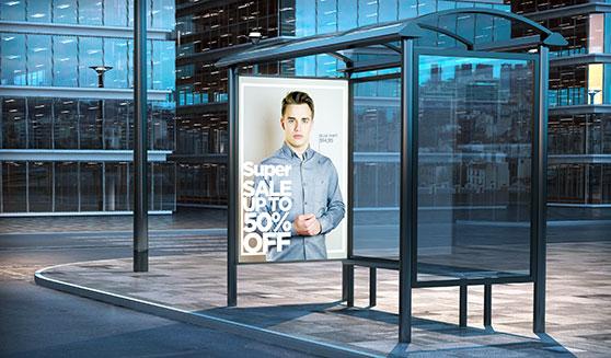 Grafikdesign Content Bild - Werbefläche Poster Bushaltestelle