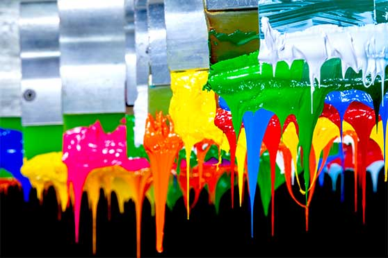 Guerilla-Marketing Content Bild - Farbspachtel bunt