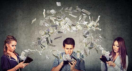 Guerilla-Marketing Content Bild - Geld ausgeben verschwenden Menschen