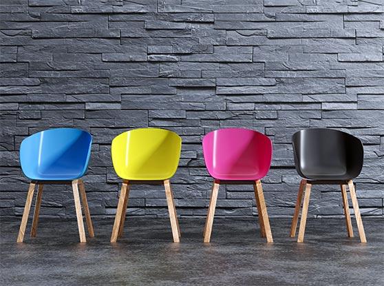 Messe Präsentation Content Bild - Bunte Stühle