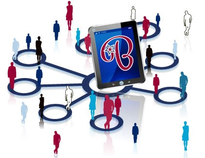 Onlineshop Content Bild - Skizze Netzwerk Kunden
