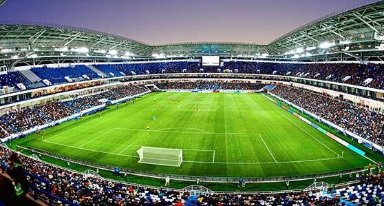 Sponsoring Content Bild - Fußballstadion und Teams
