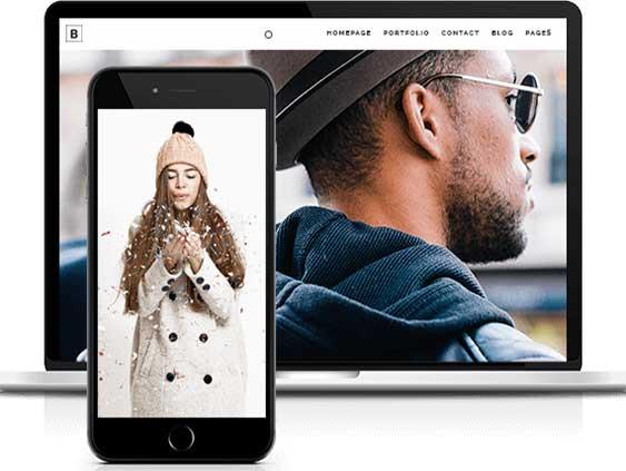 Webdesign Content Bild - Smartphone und Laptop Mode groß