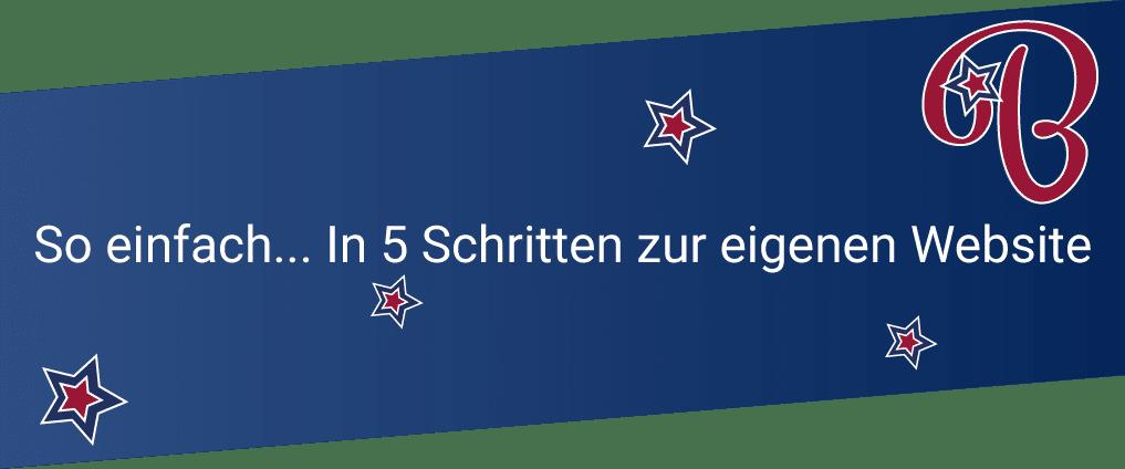 Website Mieten - Content Bild 5 Schritte zur eigenen Website