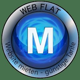 Website Mieten - Content Bild Web Flat M Logo