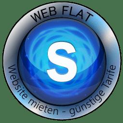 Website Mieten - Content Bild Web Flat S Logo