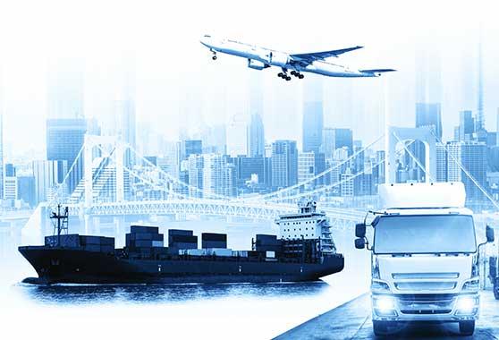 Branchenspezifische Filme Content Bild - Logistik - Flugzeug Schiff und LKW