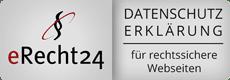 Datenschutzerklärung eRecht24 Logo