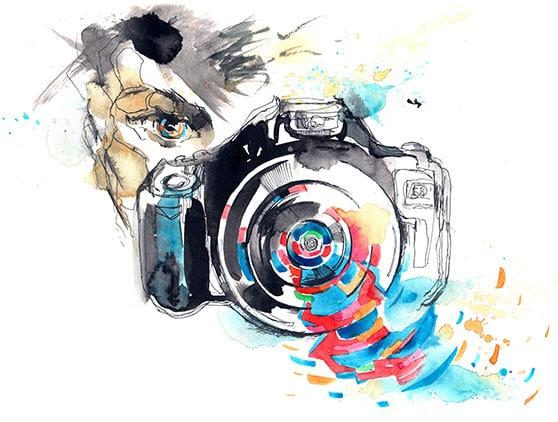 Fotodesign Content Bild - Zeichnung Design Kamara