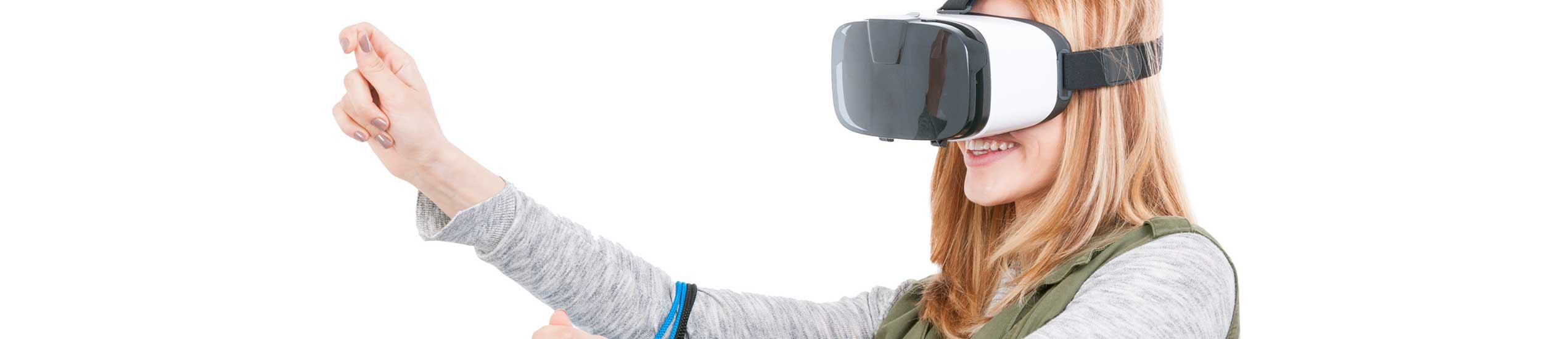 Sales Floor Solutions Titlebild - Frau beim Einkauf mit Tragetaschen und VR Brille