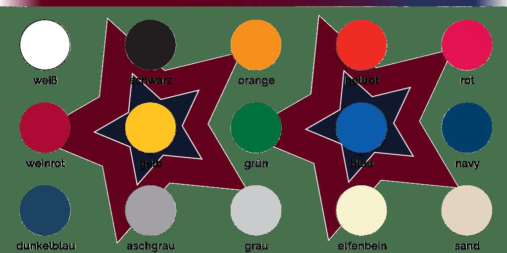 Startent® 40 Set digital Druck - Detailbild - Übersicht der Farben