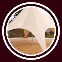 Startent® 40 Set sandfarbend - Detailbild - Zeltplane