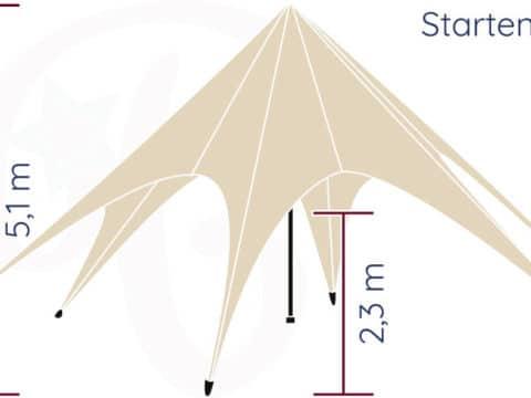 Startent® 40 Set sandfarben Hauptbild Zeichnung