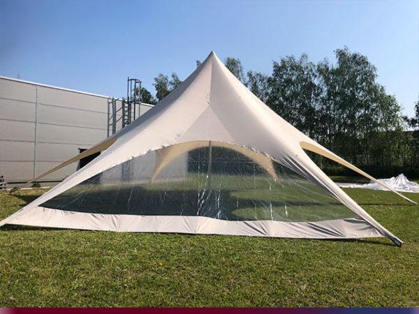 Startent® 40 Set sandfarben Produktbild Zelt mit Panorama Seitenwand