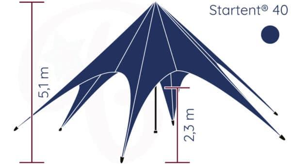 Startent® 40 Set standardfarbe Hauptbild Zeichnung