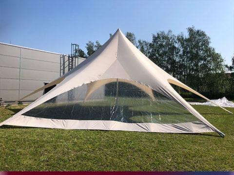 Startent® 80 Set sandfarben Produktbild Zelt mit Panorama Seitenwand