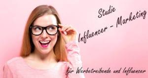 Studie Influencer-Marketing Deutschland - Facebook Bild - Frau mit Brille Headline