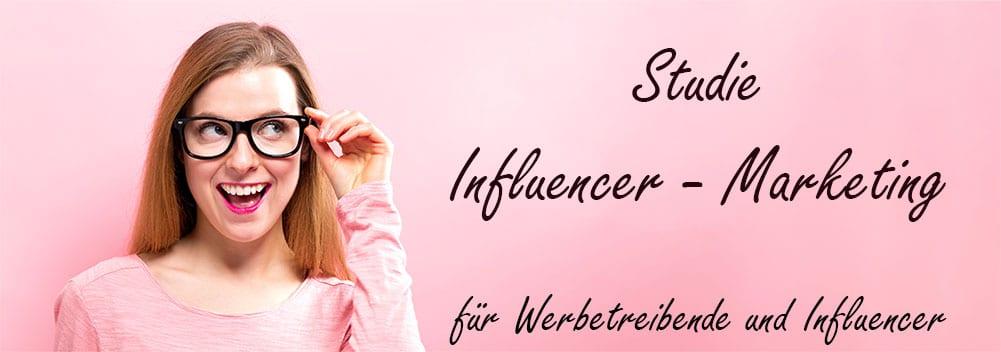 Studie Influencer-Marketing Deutschland - Blog Titlebild - Frau mit Brille Headline