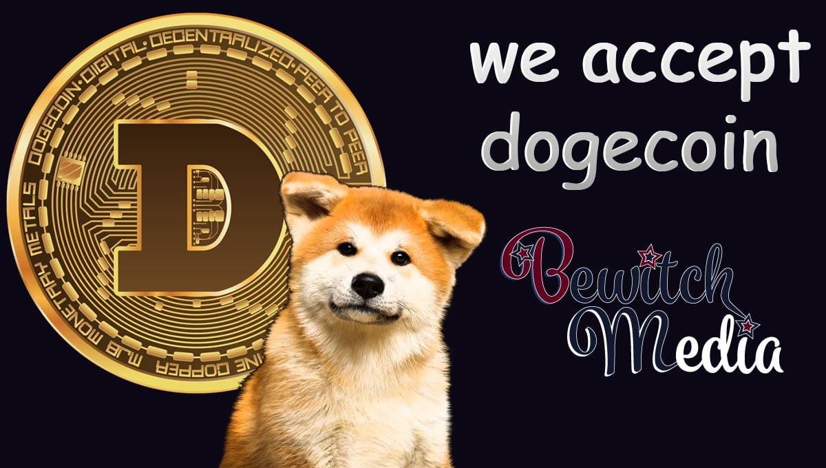 Bewitch Media akzeptiertn ab sofort dogecoin